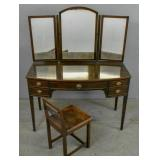 Georgian style mahogany mirror back vanity;