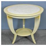 J. Robert Scott cream lacquered side table