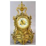Louis XVI style gilt-bronze mantel clock