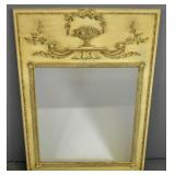 Louis XVI style floral-decorated mirror