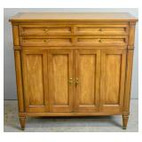 Transitional style walnut cabinet