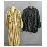 Fellici black vintage fur coat;