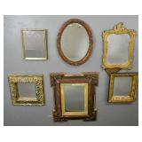 6 framed mirrors