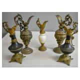 Group of 5 Victorian ewers