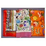 3 Gucci silk scarves