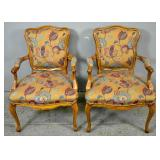 Pair of Louis XV fruitwood fauteuils