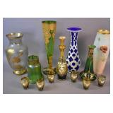 Group of Art Glass and porcelain articles