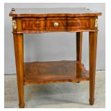 Maitland-Smith mahogany 2-tier side table