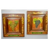 Pair of Clos de Vougeot grape paintings