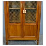 Louis XVI style mahogany wire door bibliotheque