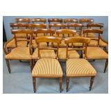 Set of 16 William IV style mahogany dining chairs
