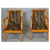 Pair of mahogany gondola chairs
