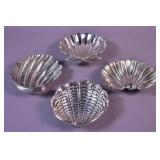 4 Buccellati sterling silver shell-form dishes