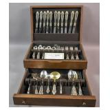 Reed & Barton silver plated partial flatware set