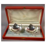 Pair of Cartier sterling silver nut dishes