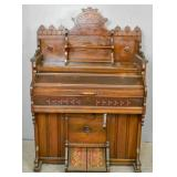 Victorian walnut organ