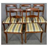 Set of 5 Federal style mahogany dining chairs