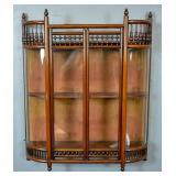 Bentwood mahogany hanging vitrine