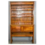 French Provincial style fruitwood hutch