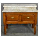 Victorian style marble top washstand