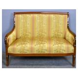 Empire style mahogany loveseat