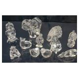 11 Baccarat crystal figures of animals