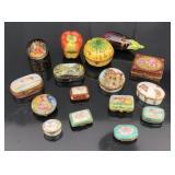 16 Limoges porcelain boxes