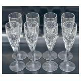 Set of 8 Tiffany & Co. crystal champagne flutes