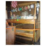 Electrical Wire, Wooden Shelf, Metal Cart Frame