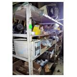 Heavy Duty Metal Shelving Unit & Contents