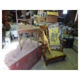 Vintage Tack Box, Chairs, Etc.