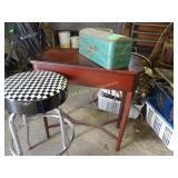 Small Table, Stool, Toolbox