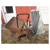 Utility Cart, Wheelbarrow, Gas Cans Etc.