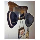 Vintage Mirror, Hats & Umbrella