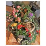 Many Artificial Plants & Baskets
