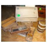 Nail Keg, Old Drawers & Boxes