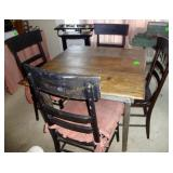 Primitive Table & 4 Chairs