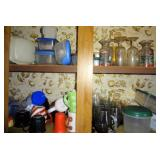 Contents of Upper Kitchen Cupboards