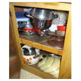 Contents of Lower Kitchen Cupboards