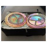 15 Carnival Glass Plates