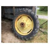 15.5-38 Sears Tires on Deere Rims
