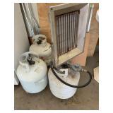 Propane Heater and Tanks