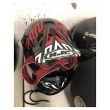 Red, Black and while HJC Off-road Helmet