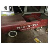 Red Fire Fighter Pedal Car Truck