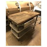 Commercial Wood Prep Table with Drawer