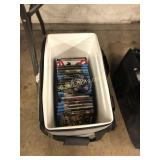 Cooler full of BluRay DVD Movies