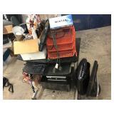 Computer Desk, shredder and more