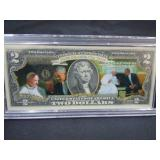 OBAMA & POPE FRANCIS $2.00 NOTE