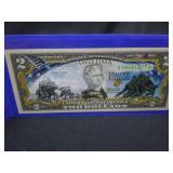IWO JIMA WWII $2.00 NOTE