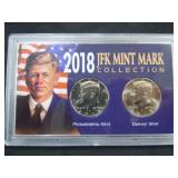 2018 JFK MINT MARK COLLECTION 2 1/2 DOLLAR